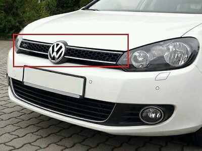 Silver Front Grille+Rear trunk Lid VW Emblem Badge Replacement For GOLF MK6 New