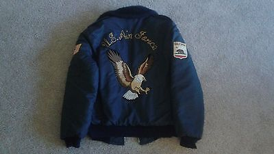 Vintage Timber King US Air Force Security Police Embroidered Eagle Jacket Size M