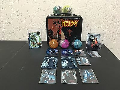HELLBOY Fan LOT Assortment Metal Lunch Box Trading Cards PVC Mini Figs Magnets
