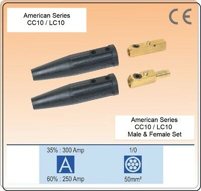 Welding Cable Connector Set welding Cable size #4-1/0 Male & Female LC10, CC10