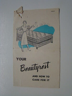 Beautyrest How to Care for Mattress Brochure 1950's