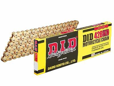 DID Gold Motorcycle Chain 428HDGG 104 links fits Honda CT110 B,D,G 81-86