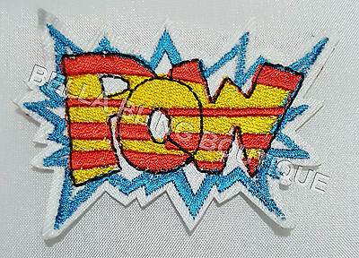 1 Super Hero Marvel Pow Kids Iron On Sew On Patch Girls Clothes Craft Bag