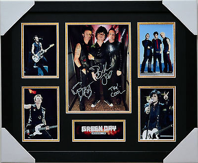 Green Day Signed And Framed Limited Edition Memorabilia