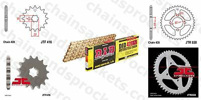 DID- All Gold Heavy Duty Chain Kit 428HDGG 114 fits Yamaha RD125 74-75