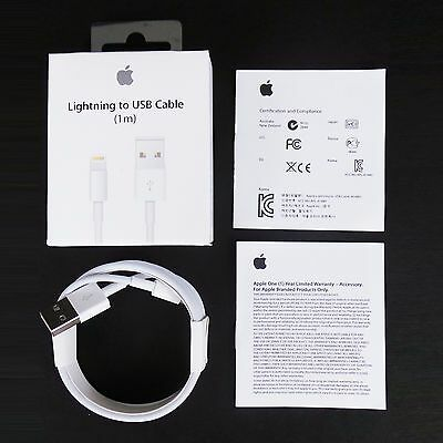 Original OEM Genuine Apple Lightning USB Cable Charger iPhone 7 6 6s Plus 3FT6FT