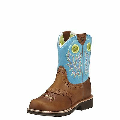ARIAT - Kids Fatbaby Cowgirl - Back Country Tan / Bright Blue - (10016241) - New