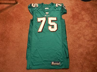 Nate Garner 2011 Miami Dolphins game used jersey