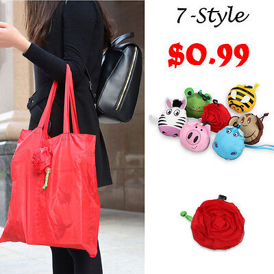 Cute Animal Foldable Eco Friendly Reusable Shopping Storage Bag Tote Grocery Bag