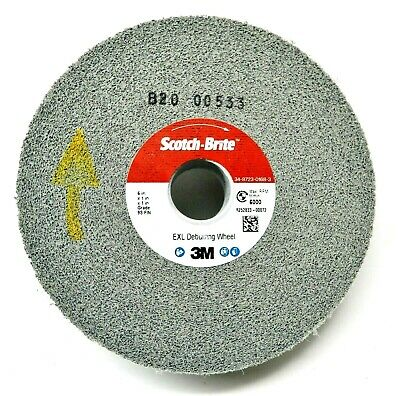 "3M Scotch-Brite EXL Deburring Wheel 6""x1""x1"" 9S FIN Surface Finishing 3M # 05132"
