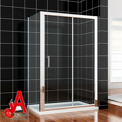 New Double/Single Shower Screen Enclosure Sliding Door Wall to Wall