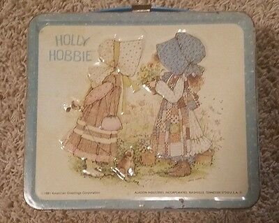 Vintage 1981 Holly Hobbie Lunch Box  Good Condition