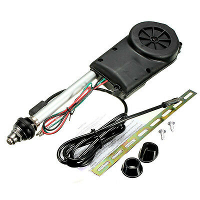 Car Electric Aerial Radio Automatic Booster Power Antenna Kit Black DM
