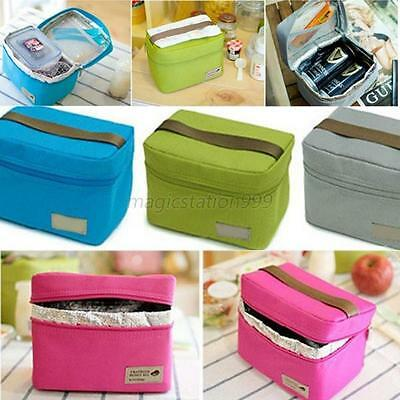 Small Insulated Cooler Picnic Thermal Bag Portable Lunch Tote Carry Storage Bag