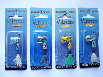 Blue Fox Flash VIBRAX 4 gr.,3 gr. Spinner, Hechte, Köder, Zander, Barsch,Trout