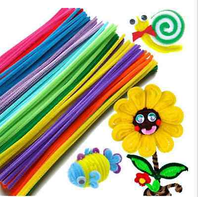 20/100X Chenille Stems Pipe Cleaners Kids Educational Toys Craft Twist Rods 30cm