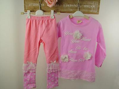 Floaty Girls Pink Top and Legging Set, 2PCS. FREE shipping within the UK!