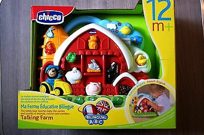 Chicco Talking Farm For Ages 12 Months+ Teaches Animals Colours Numbers New!