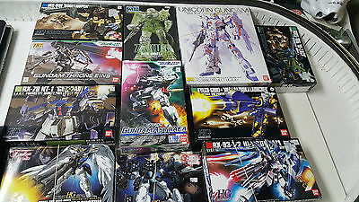 Large Lot of Bandai Gundam Wing Action Figures MG HG 1/100 ~ Used