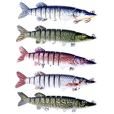 12.7cm 8 Segment Swimbait Crankbait Hard Fishing Bait Hook Fishing Lures Tackle