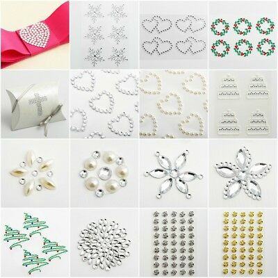 Sheet Self Adhesive Craft Diamante Rhinestone Gems Stick on Crystal Embelishment