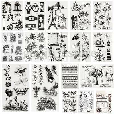 New Vintage Scrapbooking Craft Card Silicone Rubber Clear Stamp Seal Cling DIY
