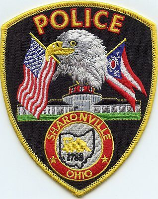 SHARONVILLE OHIO OH eagle state flag POLICE PATCH
