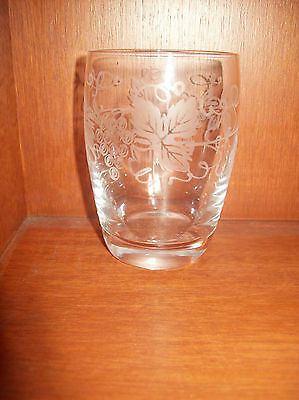 Stuart Crystal Single Tumbler Glass, 'audley' Grape And Vine Pattern