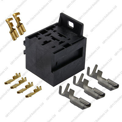 Heavy Duty Relay Base / Holder & Terminals For Starter Relays - Durite 0-729-04