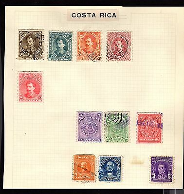 Postage Stamps ~ COSTA RICA South America ~ Early