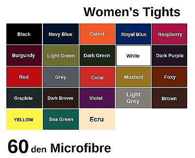 60 denier, Womens LADIES Opaque Microfibre TIGHTS, , Various Sizes and Colours