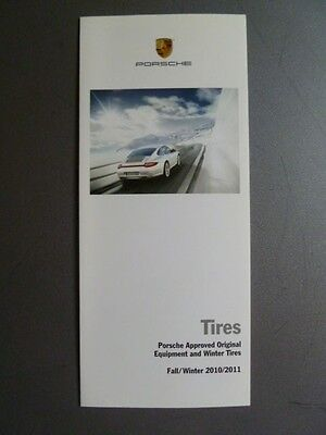 2010 Porsche Tires Showroom Sales Folder / Brochure Fall RARE!! Awesome L@@K