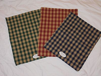 Vintage Dunroven Table Runner House Check Tea Dyed 100% Cotton