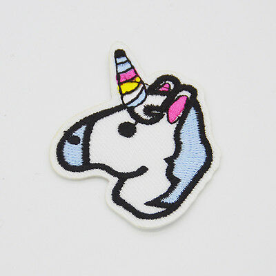 cute unicorn Embroidered cloth Iron on patch applique Sewing badge DIY Motif Hat