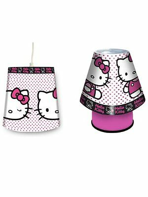 Hello Kitty Kool Lamp and Shade Set. Children's Mains bedside Light and ceiling
