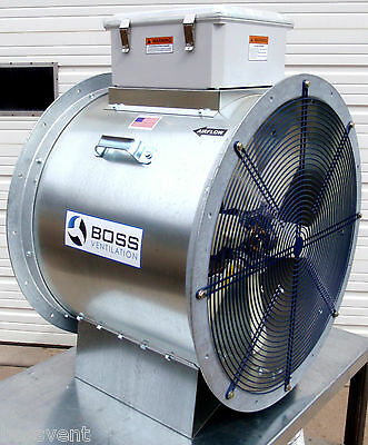 "Boss Ventilation Axial Aeration Fan - 28"", 15HP, 3600 RPM"