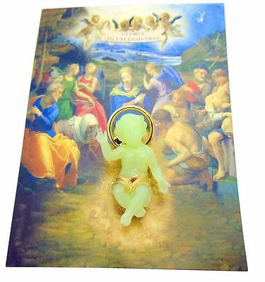 "Glow in the Dark Baby Jesus Figurine Advent Nativity Christmas Gift 1 1/2"" Long"