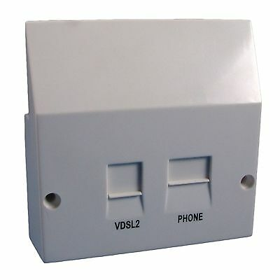 VDSL2 / ADSL BROADBAND FACEPLATE SPLITTER for NTE5a BT OPENREACH MASTER SOCKET