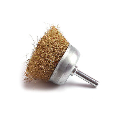 "2Pcs 2"" 50mm Copper wire Crimped  Abrasive Polishing Wheel Brush"