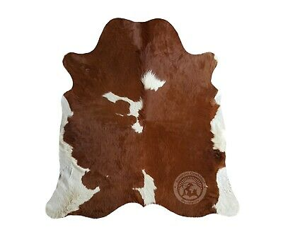 New Brazilian Cowhide Rug Leather MAHOGANY BROWN AND BLACK 6'x8' Cow Hide