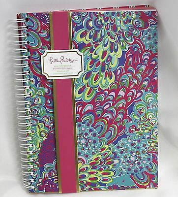 Lilly Pulitzer Mini Notebook Pink Green Stationery Lillys Lagoon Blue Lined New