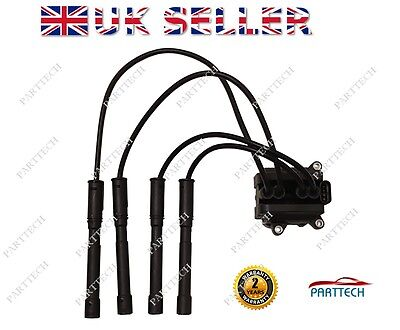 Renault Clio 1.2 16V Ignition Coil Pack + Leads 4 Bolt Fixing 8200360911 *new*