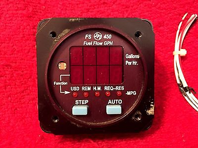 Jp Instruments Fs 450 Fuel Flow Indicator With Connector