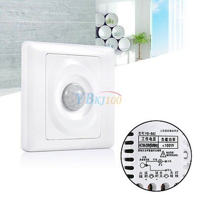 Infrared Save Energy Human Body Sensor Automatic Switch Wall Mount For LED Light