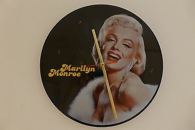 """Marilyn Monroe - The Legend Lives On - 12"""" Picture Disc Clock - Vintage Retro"""