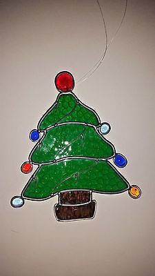 Christmas Tree Stain Glass Window/Ornament