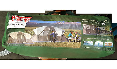 Coleman WeatherMaster Screened 10 Person Two Room Tent with Hinged Door