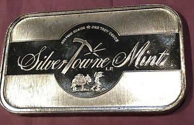 SilverTowne Unique Texture Collectible Bar Proof Like 1 Troy Oz .999 Fine Silver