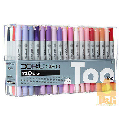 NEW TOO COPIC Ciao Set A 72 color 72A PEN SET Marker Pen Anime Comic Japan