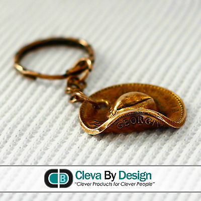 Hand Made - Australian Copper Penny Slouch Hat ANZAC Keyring